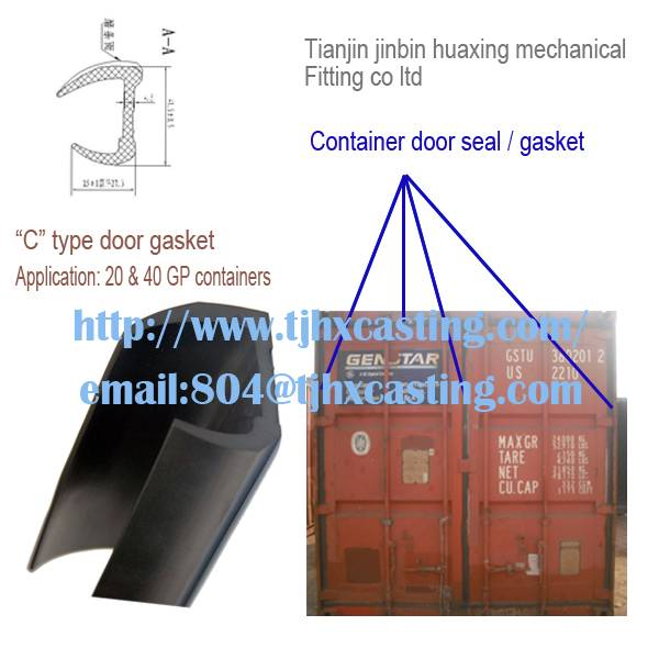 Huaxing epdm contain door gasket, J OR C type container rubber door seals