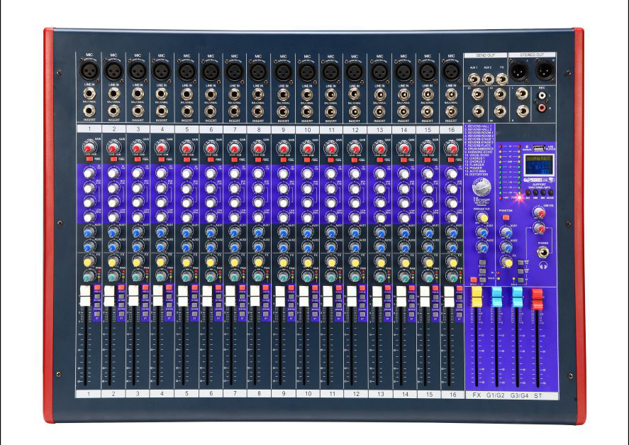 Sell 16-channel Audio Mixer with Built-in Mixer Echo Effector