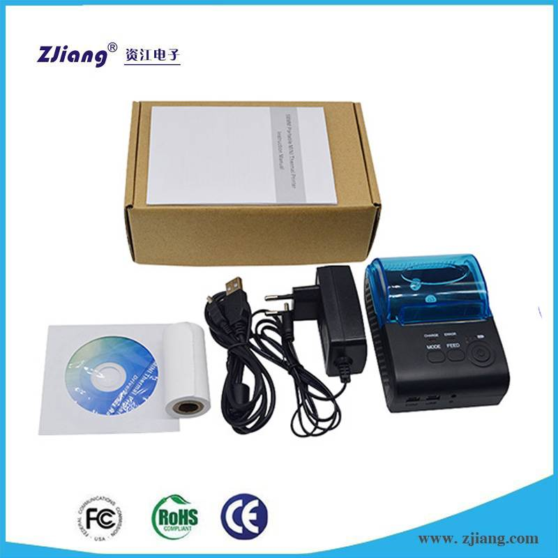 Hand held Portable Ticket Printer Bluetooth with SDK / Print Demo for Android & IOS ZJ-5805 / POS-58