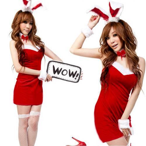 black red pink Bunny Rabbit cosplay,sexy women fancy dress,lady's halloween costumes
