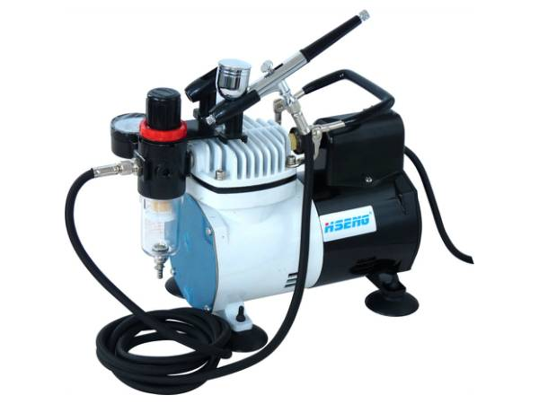 Haosheng Makeup Airbrush Compressor Kit AF18K-2
