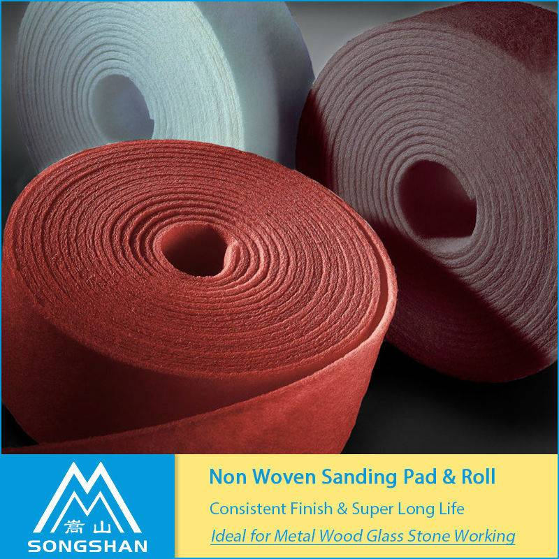 best price factory non-woven material fibre abrasive jumbo roll