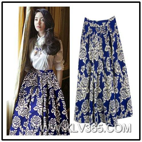 Women Printed Floral Long Skirt Wholesale