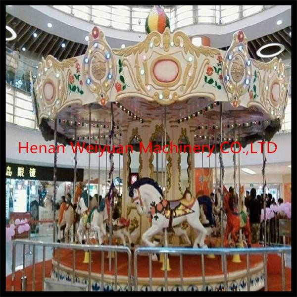 Top China fun equipment Amusement park rides rotary carousel horses for sale