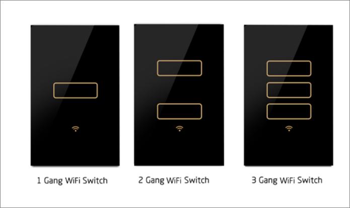 WiFi Light Switch (X-1GANG/2GANG/3GANG/fan/curtain/dimmer)