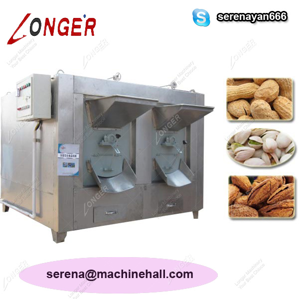 Almond Drum Roaster Machine for Sale|Nuts Baking Machine Manufacturers