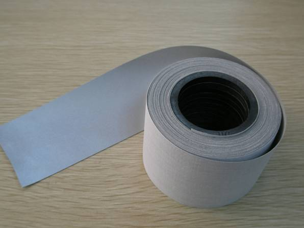 Silver soft glass bead tape
