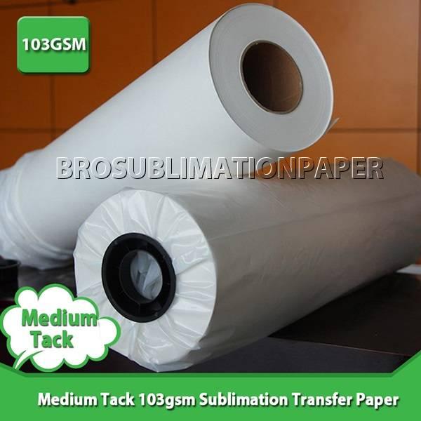"""Medium-tacky 103g Sublimation Paper 24""""*100m"""