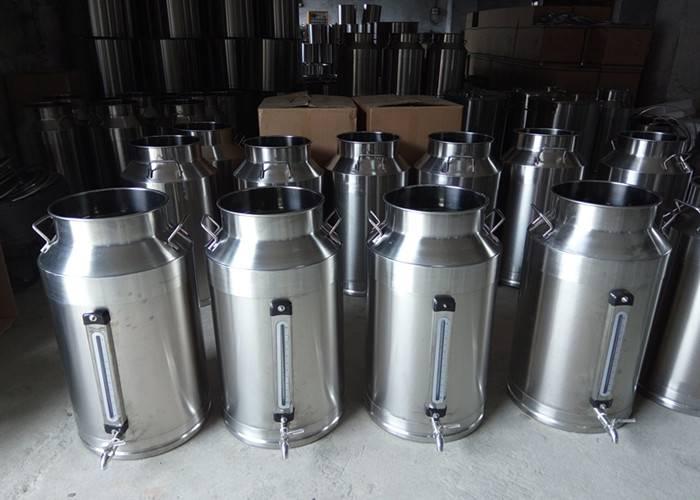 Stainless steel milk barrel