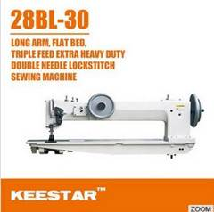Double needle long arm sewing machine 28BL30