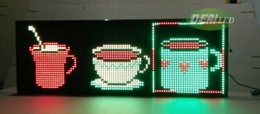 P20 tri color LED moving sign/LED message board/LED window sign