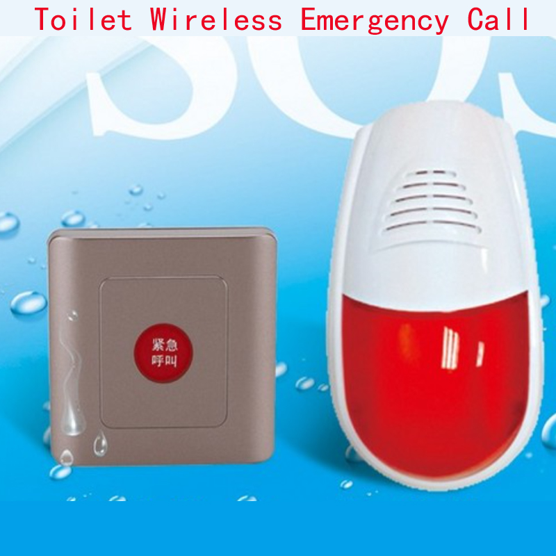 Tiolet Wireless alarm,wireless emergency call,when someone meet emergency case,can push the button
