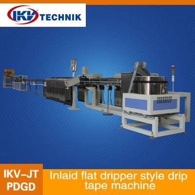 Inlaid flat dripper style drip tape machine
