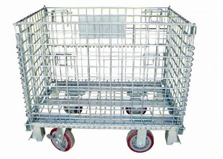 Foldable Heavy Duty Wire Steel Mesh Container
