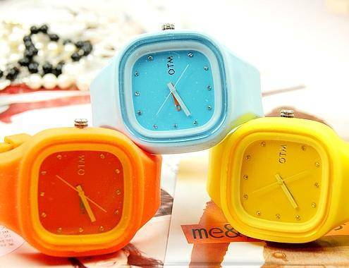 Hot watch, OTM candy colored, jelly-style watches, female watch