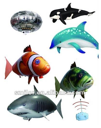 Air Swimmers-RC Inflatable Giant Fish Helium Balloon-RC Dolphin Balloon