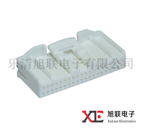 (1318389-1)White 40 pin female plastic auto PBT ectrical plastic manufacturer connector