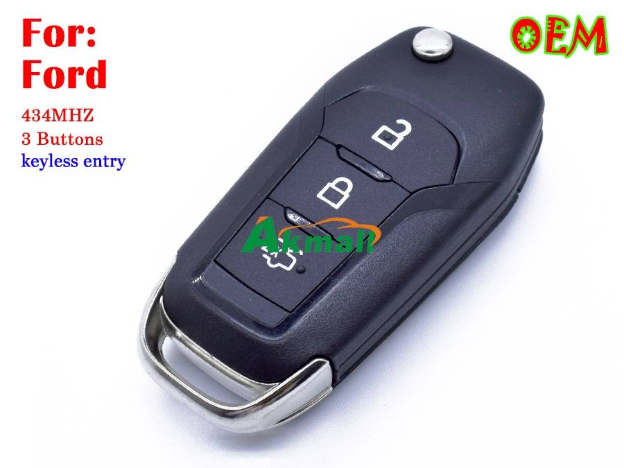 Original Ford smart flip key 3 buttons 434MHZ Keyless entry