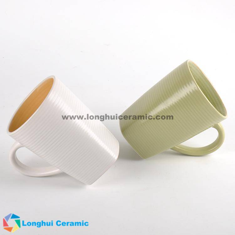 500cc screw shaped ceramic coffee mug series