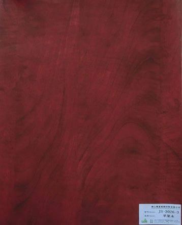 melamine paper/furniture decorative paper JS-3026-3 apple wood