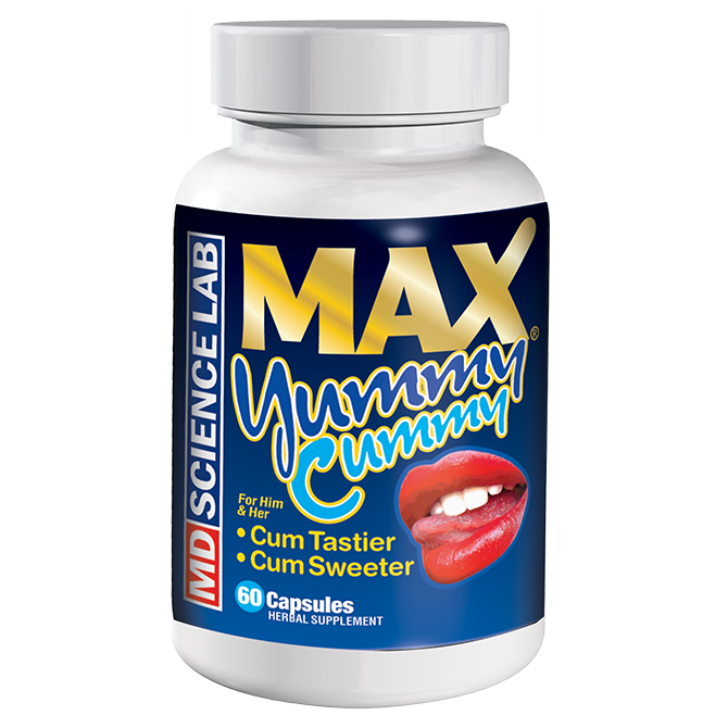 Max Yummy, Cum Sweeter and Tastier, 60pc Sex Pills Bottle for Men