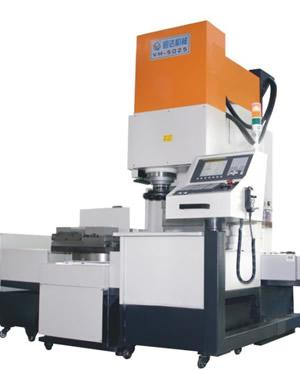 Exchange-pallet vertical CNC milling machine