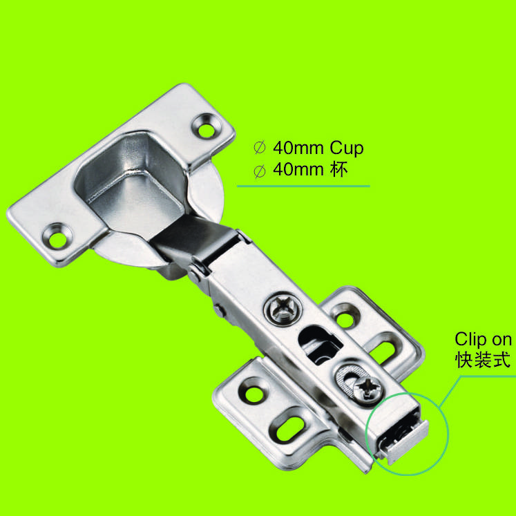 two way hinge full-overlay 40mm cup furniture hinge