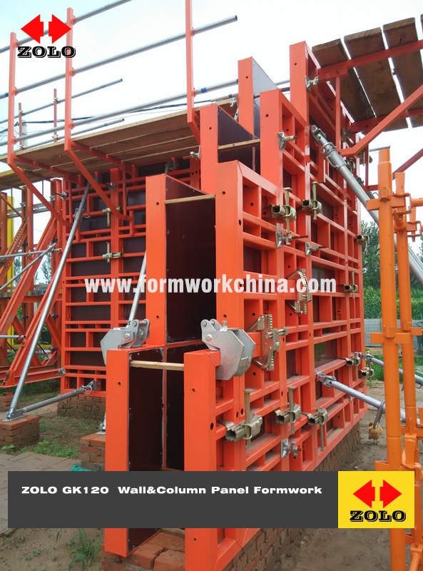 Zolo GK120 Steel Frame Wall Column Panel Formwork