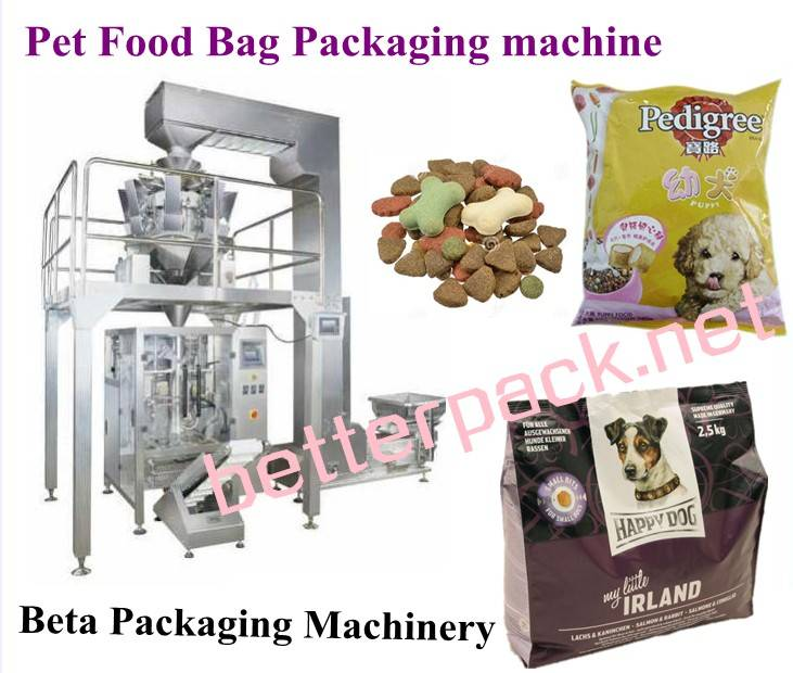 BT-680-10 Automated pet food packaging machine, pet food weighing forming filling packing system