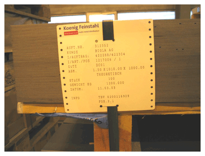 Hang tag can resistant Heat Temperatures for steel industry