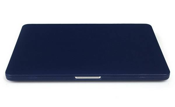 PU leather wrapped PC cover for Macbook laptop-Blue color