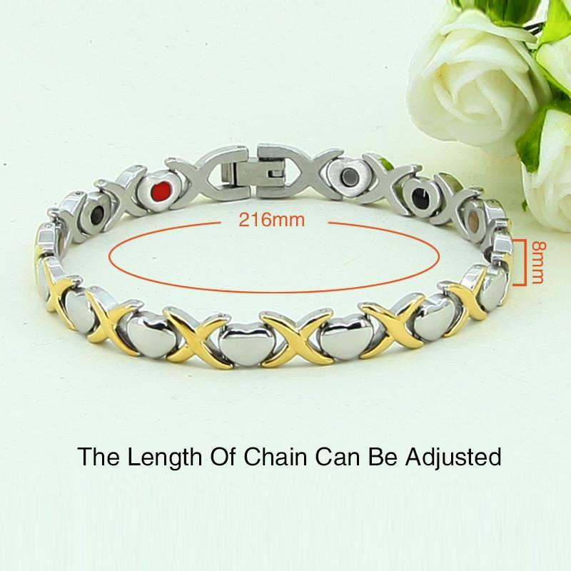 lucky silver chain bracelet and healthcare bracelet