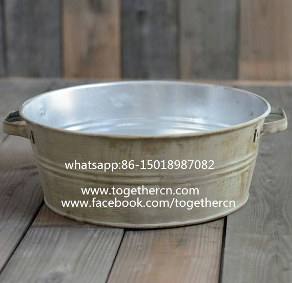 sell antique rustic metal bowl