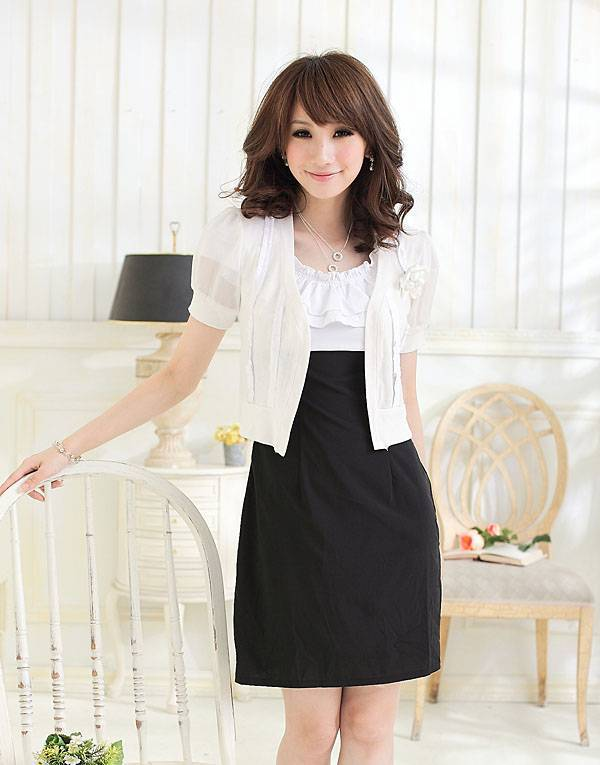 ladylike white coat korean fashion hongkong fashion wholesale
