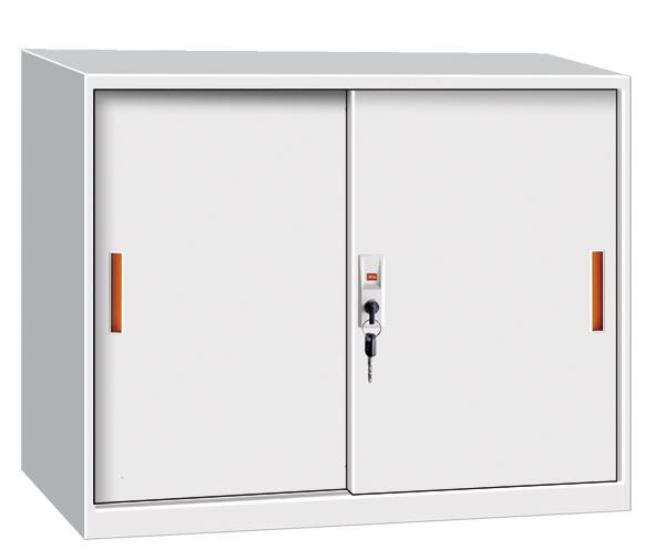 Trendy Design Sliding Door Half Height Steel Cabinet