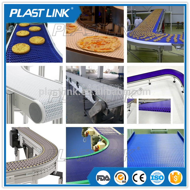 Plast link modular washing the food conveyor