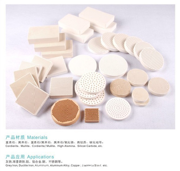 Molten Iron, Copper, Steel, Stainless Steel Extruded Honeycomb Ceramic Filter for Steel Industry