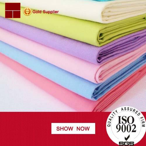 100%cotton plain fabric for clothing manufacturers from China