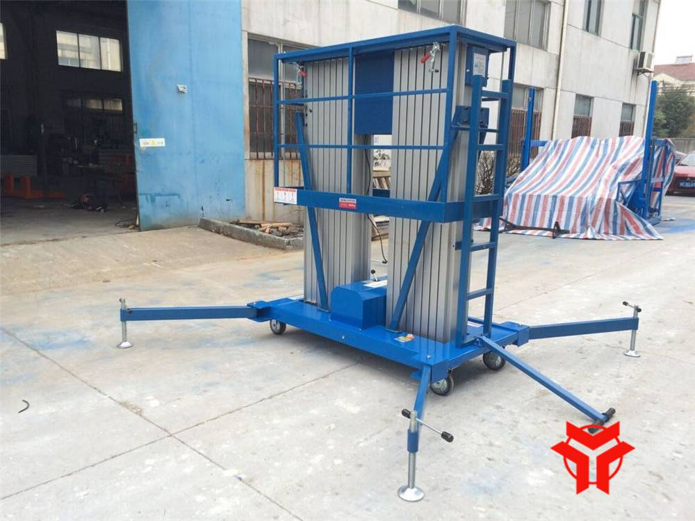 HENGYUAN SJLS0.2-6.0 Double Masts Aluminum Alloy Elevating Platform