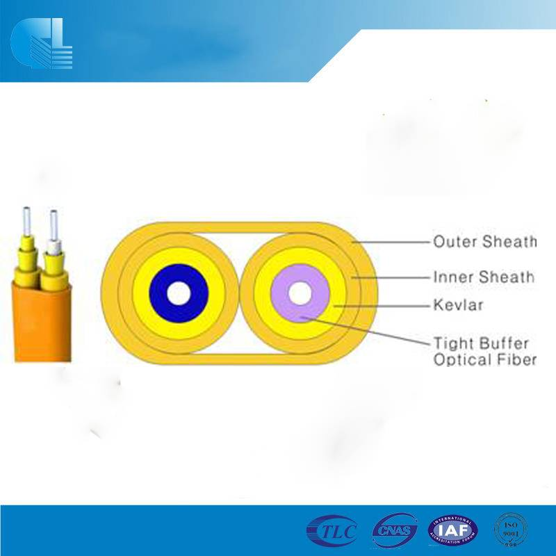 Indoor Duplex Flat Fiber Optic Cable(GJFJBV)