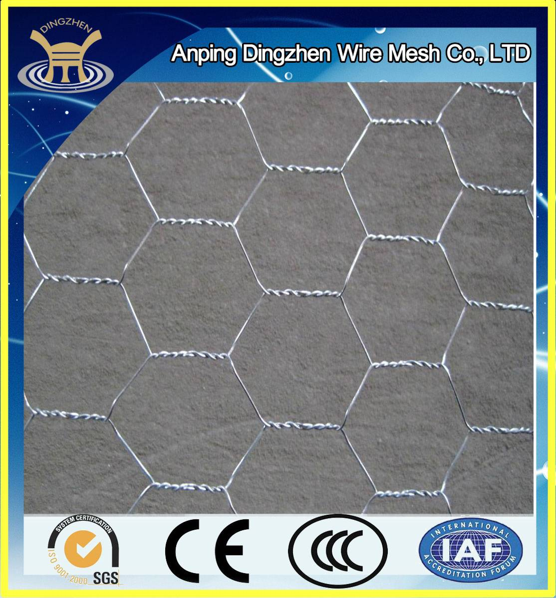 Europe Best Selling Galvanized Hexagonal Wire Mesh For Sale