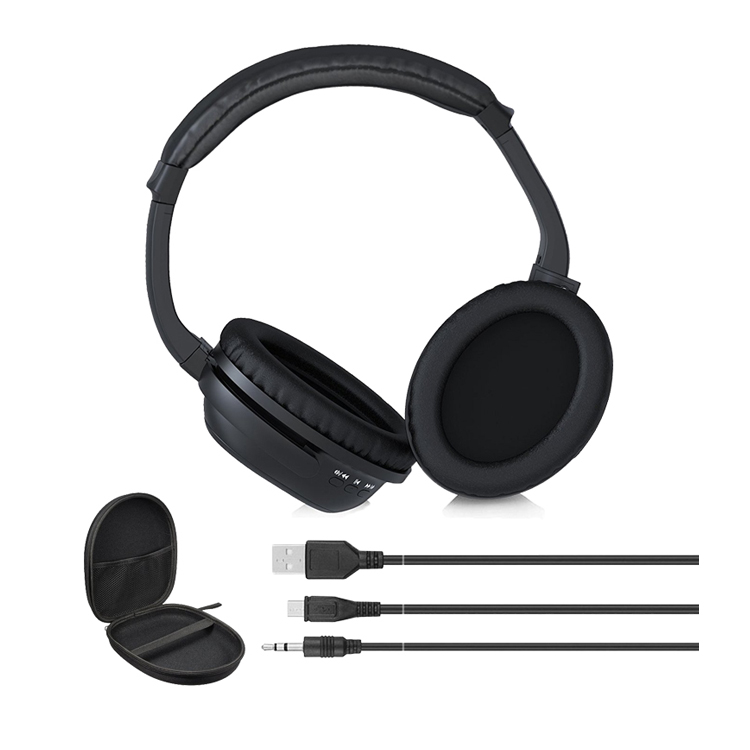 BH519 over ear bluetooth headphone and wireless earphone active noise cancelling headphones with mic