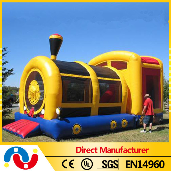 Kids inflatable castle train inflatable bouncer house