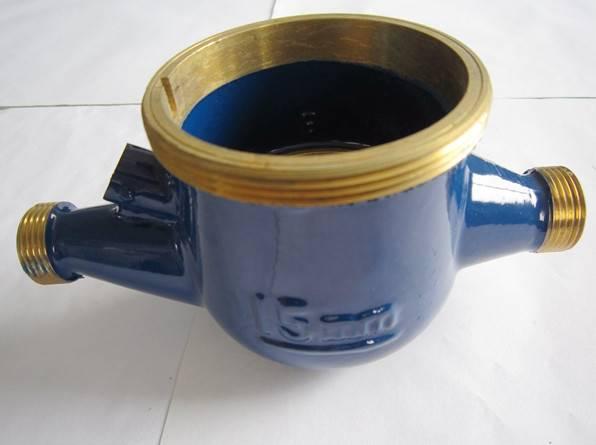 Wet Type Back Stop Screw Water Meter Body Brass Body Dn15mm~Dn50mm