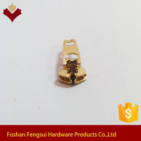 For jean sem-auto lock zipper slider with custom logo
