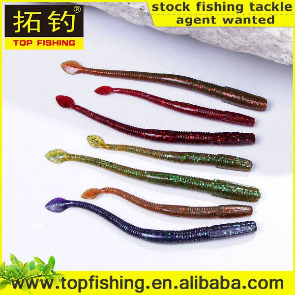100mm/ 2.9g/fastsinking/wholesale soft plastic fishing lure worm