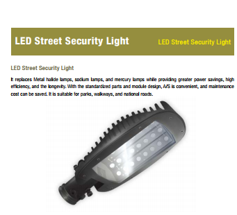 LED Indoor Light by LED Street security light