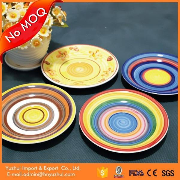 China alibaba wholesale ceramic plate,restaurant used ceramic plate,hand made ceramic plates