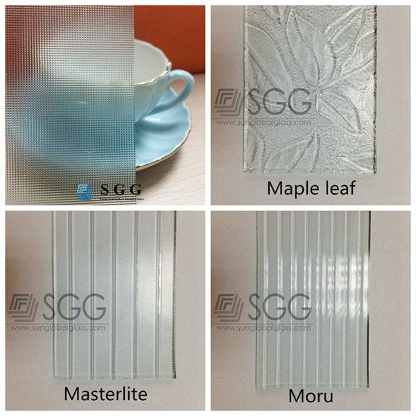 4 5 6mm  Maple Leaf Masterlinge Mistlite Moru Clear patterned glass