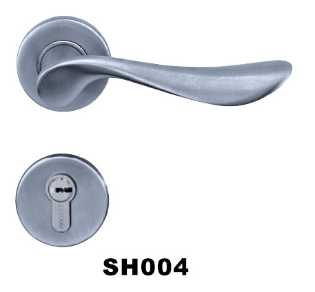 2hrs fire rated stainless steel(SS) tube lever door handle/lock/hardware high quality